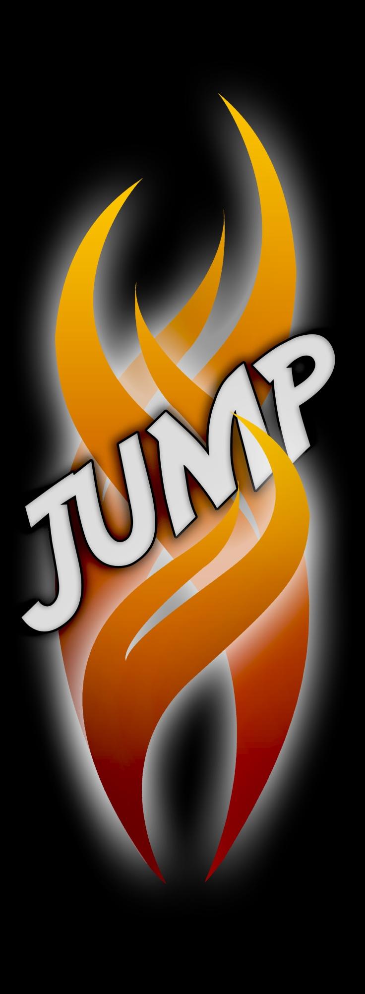 JUMP logo zwarte achtergrond